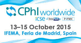 Meet us: CPhI Madrid 13-15 October 2015